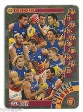 2013 Teamcoach Gold Check List (02) BRISBANE