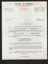 """NANTES (44) USINE de TOURS (37) CHAUFFAGE & APPAREIL MENAGER """"HUET & BRIAU"""" 1965"""