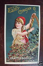 Estey Organ Co graphic trade card mint