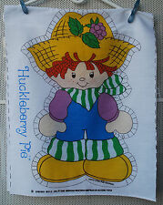 Huckleberry Pie Fabric Doll cotton Panel 1980 American Greetings