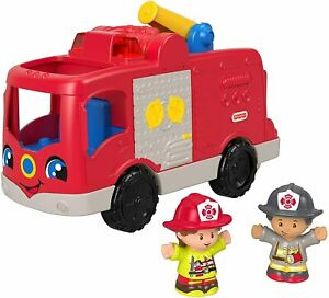 Fisher-Price Little People Helping Others Fire Truck Musical Toy FMN98 NEW