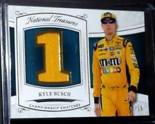 Panini National Treasures Nascar Race Card KYLE BUSCH Championship PATCH #7/15