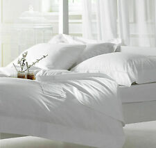 1000 TC BED SHEET SET WHITE SOLID KING SIZE 100% EGYPTIAN COTTON