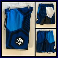Quiksilver CYPHER Blue Sufer/Skater Board Shorts/Swim Shorts Sz (32) #10186