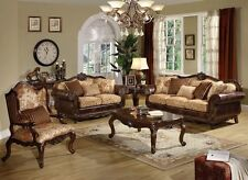 Exceptionnel Remington Bonded Leather Sofa Loveseat Chair 5 Brown Cherry Finish By Acme