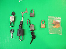 Various Luggage Locks & Keys Samsonite And Other