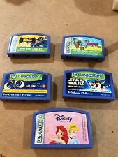 Lot of 5 Leapster Games Disney, star wars, batman, ect.. See pictures!