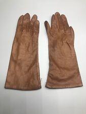 Vintage Saks Fifth Avenue Brown Ladies Dress Gloves Size 7