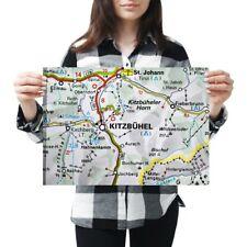 A3 - Kitzbuhel Austria Town Europe Travel Map Poster 42X29.7cm280gsm #45478