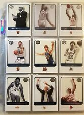 -almost-complete-set-of-2001-fleer-greats-of-the-game-basketball-trading-cards