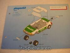 Playmobil 3903 Polizeiauto, Anleitung, Bauanleitung, Aufbauanleitung, gebr.