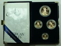 2001 American Eagle Gold Proof 4 Coin Set AGE in Box w/ COA