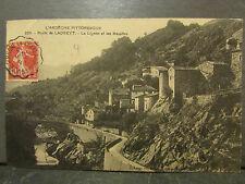 cpa 07 route de ladreyt le lignon et les basaltes