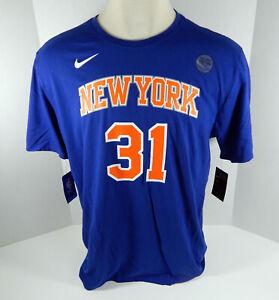 Mens New York Knicks Ron Baker #31 DriFit Blue T-Shirt 2XL Nike NWT