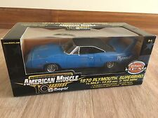 1/18 SCALE AMERICAN MUSCLE BLUE 1970 PLYMOUTH SUPERBIRD