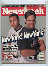 Newsweek Derek Jeter Mike Piazza Yankees Mets Subway Series No Label 2000