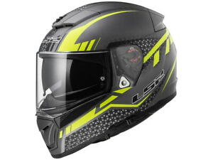 LS2 Integral Helmet FF390 Breaker Split Titanium Yellow Matte Motorcycle Of Kpa