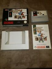 OLYMPIC SUMMER GAMES NINTENDO SNES - complete with BOX & MANUAL -