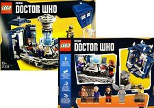 NEW! DOUBLE SIDED Miniature 1:12 scale LEGO Dr. Who set Dollhouse prop TOY BOX