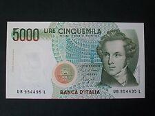 BANCONOTA LIRE 5000 BELLINI  SERIE B FIOR DI STAMPA