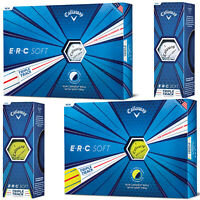 2019 Callaway ERC Soft Triple Track Golf Balls One Sleeve/One Dozen White Yellow