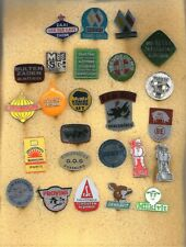 25 different agriculture related dutch '60's badges / stickpins