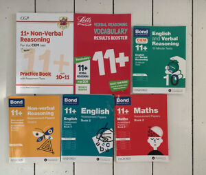 BOND/CGP/Letts 11+ English/Maths/Reasoning 6 x Books Bundle
