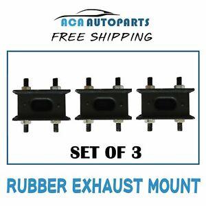 Rubber Exhaust Mount for Toyota Landcruiser 40 60 70 80 100 Series Set 3 Mounts