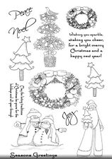NEW Sparkle & Cheer Clear Christmas Stamp Set - contains 12 stamps 🎄