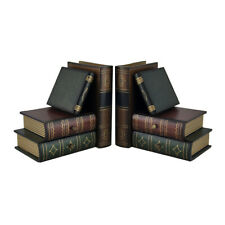 Zeckos Stack of Hardcovers Bookends with Stash Drawers
