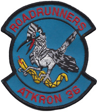 US Navy VA-36 Attack Squadron 36 Roadrunners Embroidered Patch ** LAST FEW **