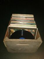"""Ten Piece Lot of Used 12"""" Vinyl Records - 33 rpm - For Crafts, Decorations, Etc"""