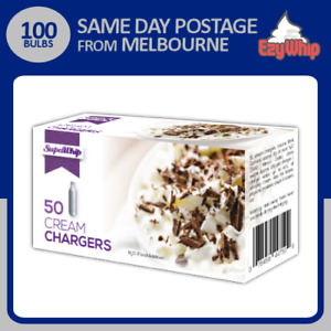 100 BULBS SUPAWHIP CREAM CHARGERS 50 PACK X 2 WHIPPER NITROUS OXIDE WHIPPED