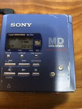 Sony Portable Mz-R55 Md Walkman Blue Minidisc Recorder/Player