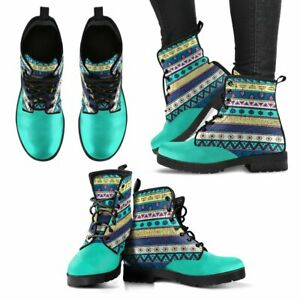 Turquoise Crafted Blue Womens Booties Vegan-Friendly Leather Woman Boots