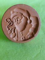 Fox Run Christmas Cookie Stamp Terra Cotta Santa