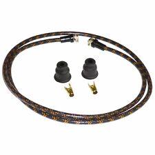 Vintage Rajah Black w/ Orange 7mm Cloth Spark Plug Wire Sets harley sportster