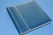 Schaubek Blue Springback Quad Pages Album Binder BlueLakeStamps Very Nice!