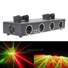 30W 4 Lens 150mW DJ Laser Light DMX512 Red Green 4 Beam Stage Lamp KTV DJ Clubs