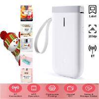 Pocket Bluetooth Wireless USB Thermal Printer Paper Label Sticker Printing E3I5