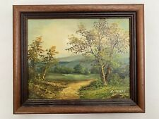Original Framed Landscape Oil Painting by C Inness - Signed