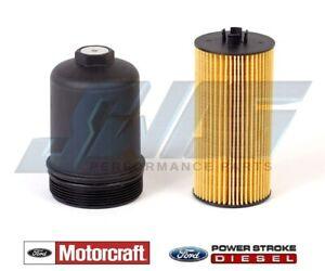 04-10 Ford 6.0 6.0L Powerstroke Diesel Econoline Van Motorcraft Oil Filter & Cap