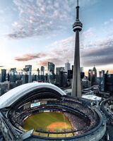 Toronto Blue Jays Rogers Center - Skydome Color Aerial View 8 X 10 Photo Picture