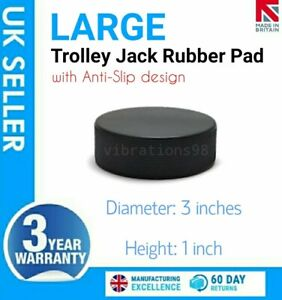 LARGE Heavy Duty Rubber Pad for Hydraulic Floor Trolley Jack - Prevents Damage