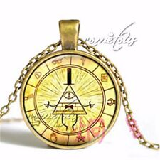 Vintage Drama Gravity Falls Mysteries Bill Cipher Wheel Necklace Chain New