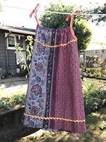 70s Vintage Handmade Muted Calico Prairie Mini Dress Small Festival Hippie