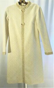 Vintage Gold Lame Geometric Pattern Dress