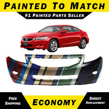 NEW Painted To Match - Front Bumper Cover for 2008-2010 Honda Accord Coupe 2 dr