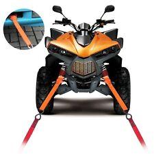 Soft Loop Tie Down Strap for Towing Cargo ATV UTV Motorcycle Snowmobile Orange