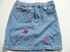 jupe H&M 5 / 6 ans en jean brodé taille ajustable  116 cm Fille